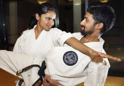 Priya Thekkumparambath Mana has developed a passion for the martial arts with her husband Arun Devaraj since moving to Richland two years ago. ANDREW JANSEN — Tri-City Herald